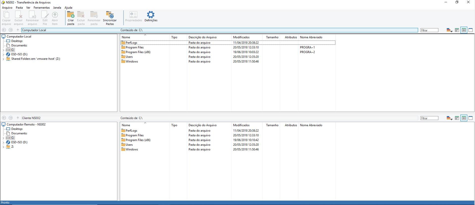gestão de arquivos netsupport manager